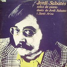 JORDI SABATES-SOLOS DE PIANO LP DOUBLE 1977 B-B
