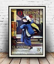 Glasgow Corporation tranvía, Vintage Reproducción de Publicidad Cartel, Pared Arte.