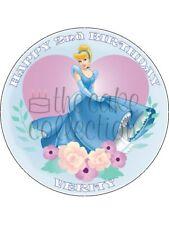 Cinderella Comestible Torta O Cupcake Toppers Glaseado O Oblea