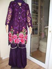 Pakistani Indian Garara Purple Net Suit 15% Off Ready Made Embroidered 201-18