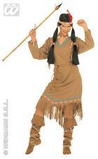 indienne COSTUME squaw, Indien 3 pièces Carnaval, S,M,L,XL 4336