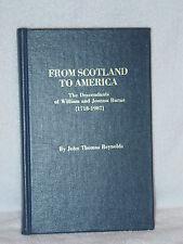 Descendants William Joanna Burns 1718 Genealogy Books John Reynolds NJ PA MD VA