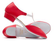 Ladies Girls Red PU Dance Greek Sandal Teaching Ballroom Practice Shoe By Katz