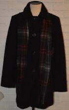 Women's St. John's Bay Black Wool Blend Twill Button Front Coat Size Medium