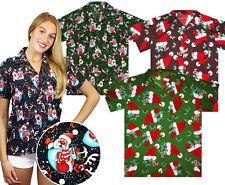 Funky Hawaiibluse, Christmas, Multi, X-Mas, Weihnachten Damen Kurzarm Hawaihemd