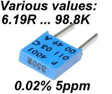 0.02% 5ppm 0.5W Very High Precision Vishay SFERNICE Foil resistor VARIOUS VALUES