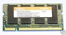 LAPTOP MEMORY 256MB DDR PC2700  333MHz CL2.5