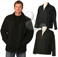 Mens Lined Wool Blend Jacket Size  S M L XL 2XL 3XL Winter Coat Black Navy New!