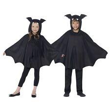 Niña Niño Infantil Murciélago Alas Capa Capucha Ears Disfraz de Halloween Poncho