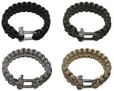 ARMBAND Parachute Cord Armkette Metall Verschluss bracelet band 550 Seil