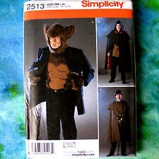 Simplicity 2513 Warewolf Costume Pattern Cloaks XS-M
