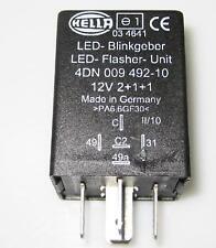 HELLA LED blinkgeber blinkrelais 12v2+1+1 Flasher UNIT Lampeggiatore Relè Auto