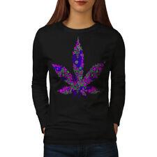 Hippie Freedom Plant Women Long Sleeve T-shirt NEW | Wellcoda