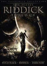 Riddick Trilogy (2006, DVD) 3 Movie Set! Vin Diesel