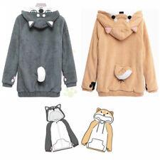 Unisex Harajuku Hoodie Sweatshirts Cat Dog Shiba Inu Coat With Ears Cute jumper