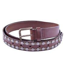 Dolce & GABBANA cintura con borchie marrone studs belt brown 03917
