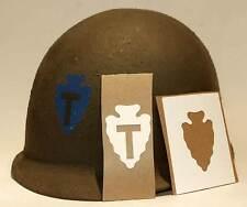 Helmet Stencil USA 36th Texas Infantry Div WW2 Transfer Decal Pochoir casque M1