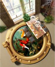 3D acquario pesce art Pavimento Foto Wallpaper Murales Muro Stampa Decalcomania