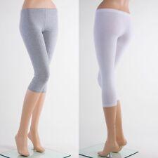 C-B1001 BASIC Capri Cotton Leggings Skinny Stretch Yoga Thin Pants Plus S ~ 3X