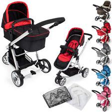 3 en 1 d'enfants combinable poussette canne de voyage bébé