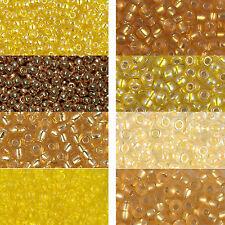 Miyuki Rocailles 6/0 aproximadamente 4 mm oro, amarilla, goldschimmer aprox. 9,9 gramos