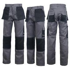 Grey Work Wear Trousers Pants Knee Pad Pockets Men's Cargo Pockets Cargo Pant