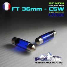 2 AMPOULE XENON C5W 36MM SV8.5 12V BLANC ECLAIRE PLAQUE PLAFONNIER