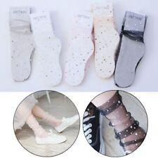 Moon Sequins Short Hosiery Glitter Mesh Lace Socks Thin Fishnet Ankle High
