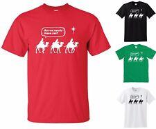 Siamo quasi arrivati? T-Shirt-RE MAGI BARZELLETTA Divertente Uomini Donne Natale