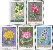 Vietnam 206-210 (kompl.Ausg.) gestempelt 1962 Freimarken: Blüten EUR 5