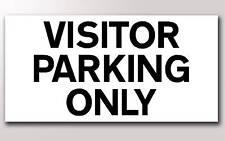 1 visitatore parcheggio solo 3MM RIGIDO segno 300mm x 150mm
