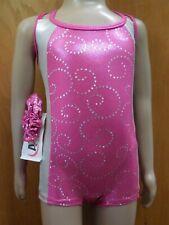 Biketard Unitard Cotton Blend Child sizes 2 thru 14//16 NEW Hot Pink Bodysuit