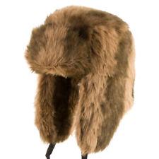 ULTRAFINO Explorer Ushanka Winter Trapper Faux Fur Pilot Hat Ear Flaps ALL SIZES
