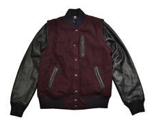 Nike NSW DESTROYER VARSITY Deep Garnet Black Contrast Sleeves Junior's Jacket