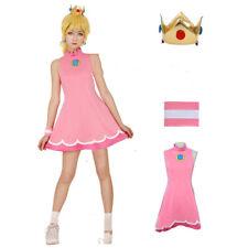 Mario Tennis Princess Peach Cosplay Costume Dress/Free shipping