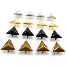 Latón sólido tetraedro Tachas Punk Rock Bolsa De Cuero Artesanales Biker 12 Mm Ahw