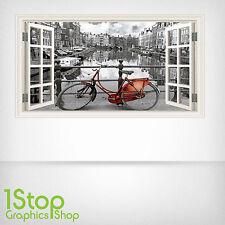 AMSTERDAM WALL STICKER FULL COLOUR - LOUNGE BEDROOM WINDOW W50