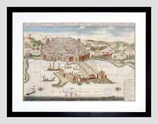 MAP PORT CITY ALGER ALGIERS ALGERIA AFRICA HARBOUR FRAMED ART PRINT B12X7108