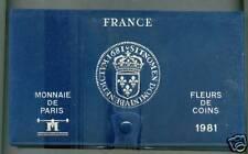 FDC TRES RARE COFFRET FLEUR DE COINS COMPLET DE 1981 @ QUALITE @ PETIT TIRAGE