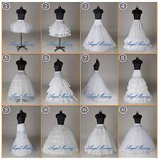ALL Styles White A Line/Hoop/Hoopless/Short Crinoline Petticoat/Slips/Underskirt