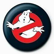 Ghostbusters Logo Button schwarz. Offiziell lizenziert