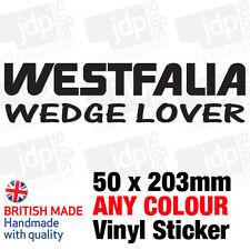 WESTFALIA WEDGE LOVER STICKER/DECAL (VW, CAMPER, POP TOP, T25, BAY, T2)