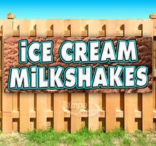 Ice Cream Milkshakes Advertising Vinyl Banner Flag Sign Many Sizes Usa