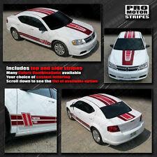 Dodge Avenger 2008-2014 Multi Color Center and Side Stripes (Choose Color)