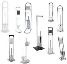2 in1 WC Garnitur WC-Bürste mit Ständer Toilettenbürste Rollenhalter Klobürste