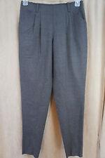 DKNY Pants Sz 4 Umber Brown Front Pocket Business Dress Chic Skinny Leg Slacks
