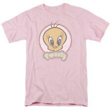 Looney Tunes Retro Tweety Pink Licensed Adult T Shirt