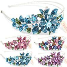 Fashion Crystal Rhinestones metal Flowers Headband bridal head-wear Accessories