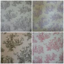 Toile De Jouy Wallpaper - Provencale Lovers Wallcoverings - Shabby Chic Decor