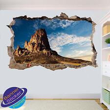 ARIZONA DESERT ROCK MOUNT 3D SMASHED WALL STICKER ART ROOM DECOR DECAL MURAL ZD5